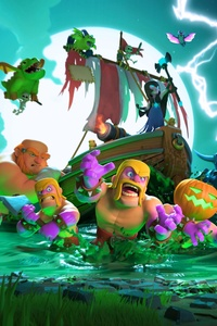 240x400 Clash Of Clans Halloween 4k