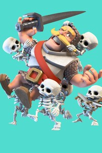 Clash Royale Knight And Skelton