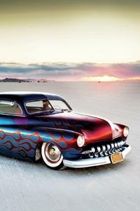 Classic Car Somewhere In Desert