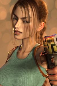 1080x2160 Classic Lara Croft 4k