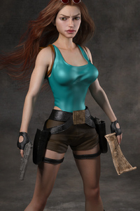 240x400 Classic Tomb Raider Art