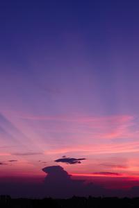 Clear Purple Sky Of City 5k