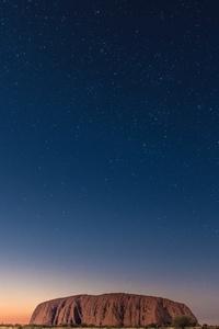 Clear Stars Sky Night Rock 5k