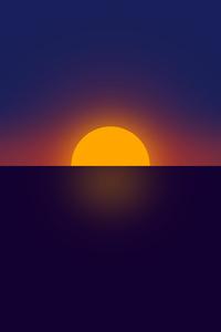 2160x3840 Clear Sunset Minimal 4k