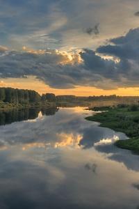 Cloud Landscape Nature Reflection River