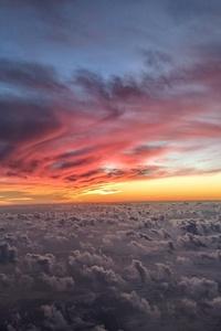 320x568 Cloud View From Flight 4k