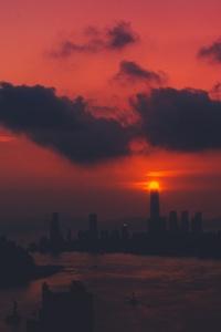 Clouds City Skyline 5k