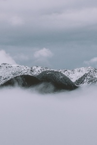 Clouds Covered Mountains 4k