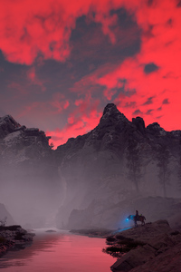 640x1136 Clouds Of Fire Horizon Zero Dawn 4k