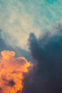 Clouds Orange Dark Sigma Style Sunrsie 5k