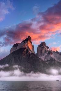 1440x2560 Clouds Rock Mountains Landscape 4k