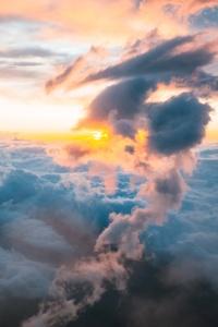 750x1334 Clouds Sunrises Mount Fuji