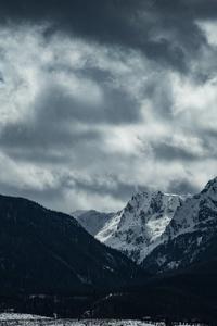 2160x3840 Cloudy Mountain Scenery 5k
