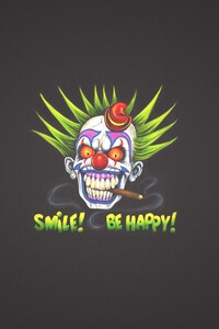 750x1334 Clown Art Smile