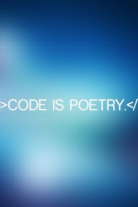 320x480 Code is Poetry