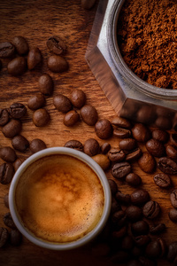 240x400 Coffee Beside Coffee Beans