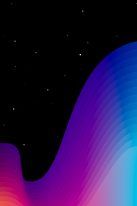 Color Path Stars Dark Sky 4k