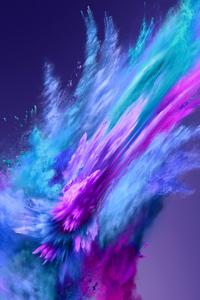 Color Powder Spray Abstract 4k