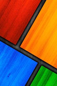 1440x2560 Color Wood Window 4k