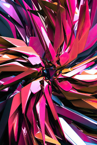 480x800 Colorful 3d Render Abstract 4k