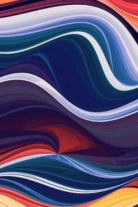 240x400 Colorful Abstraction Waves 4k