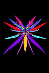 800x1280 Colorful Bug Minimal Dark 5k
