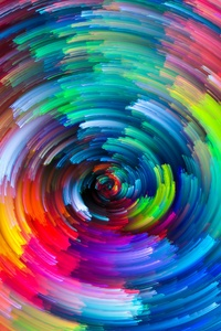 Colorful Circle Texture Abstract