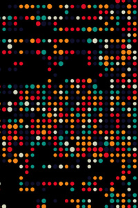 1440x2960 Colorful Dots Dark Abstract 5k