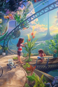 1125x2436 Colorful Fantasy 4k