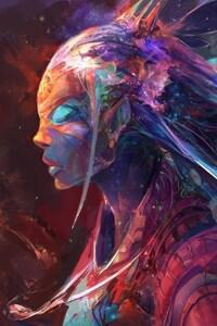 Colorful Girl Art