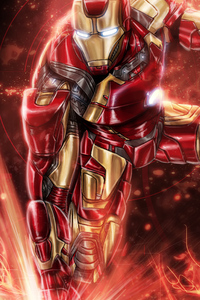 Colorful Iron Man Art