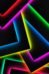 1440x2560 Colorful Lines Shapes Shadow 4k