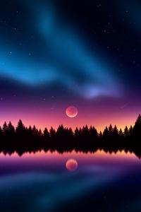 640x1136 Colorful Night Stars