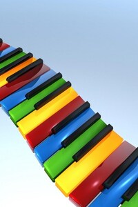 240x400 Colorful Piano