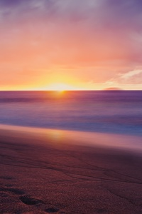 1080x2280 Colorful Sunset Beach 4k