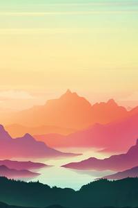 240x320 Colorful Sunset Minimal 4k