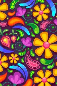 800x1280 Colorful Texture Flowers 5k