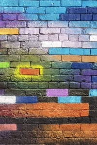 320x480 Colorful Walls Photography 5k