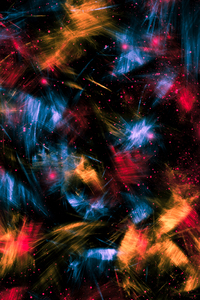 Colour Flowers Splashes Abstract 4k