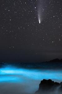 1125x2436 Comet Neowise 4k