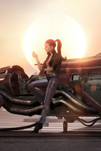 750x1334 Comet Rider 4k