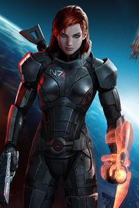 640x960 Commander Shepard Mass Effect 3 4k