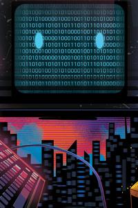 640x1136 Computer Retrowave