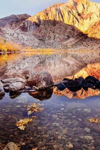 640x1136 Convict Lake Autumn 4k
