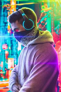1242x2688 Cool Boy Headphones 5k