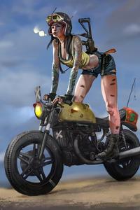 1080x2160 Cool Girl On Bike
