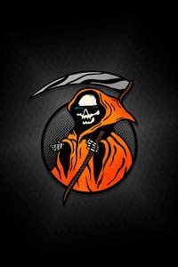 Cool Grim Reaper Minimal 8k