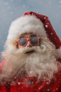 320x568 Cool Santa Claus 4k