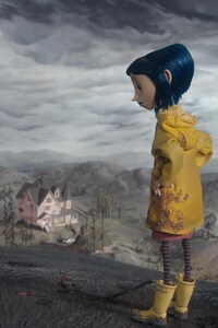 640x960 Coraline Cartoon Girl
