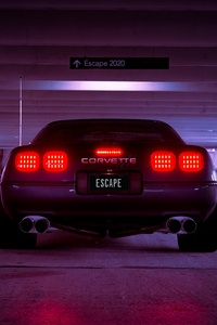 1080x2160 Corevette C4 Escape 2020 Retrowave